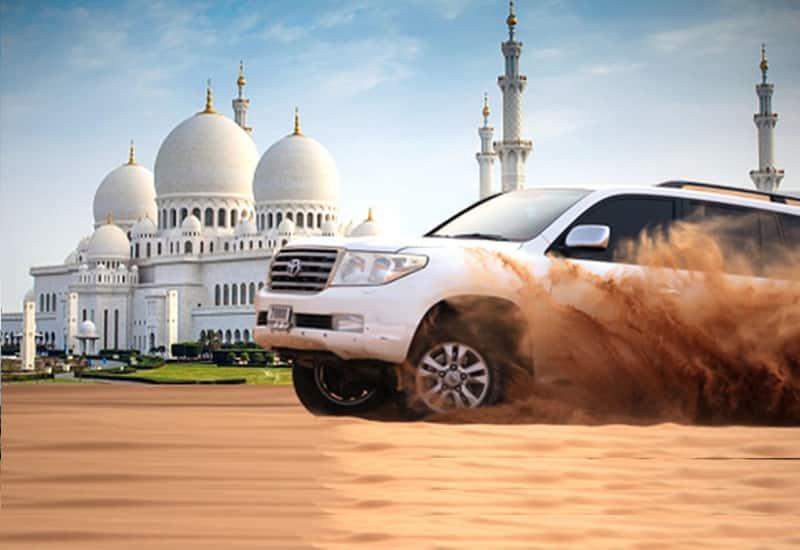 Dubai City Tour + Desert Safari + Abu Dhabi City Tour