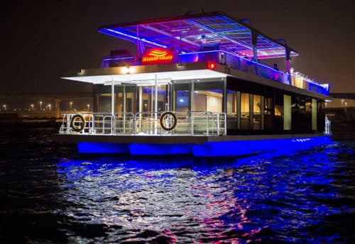 House Boat Dinner Marina Dubai